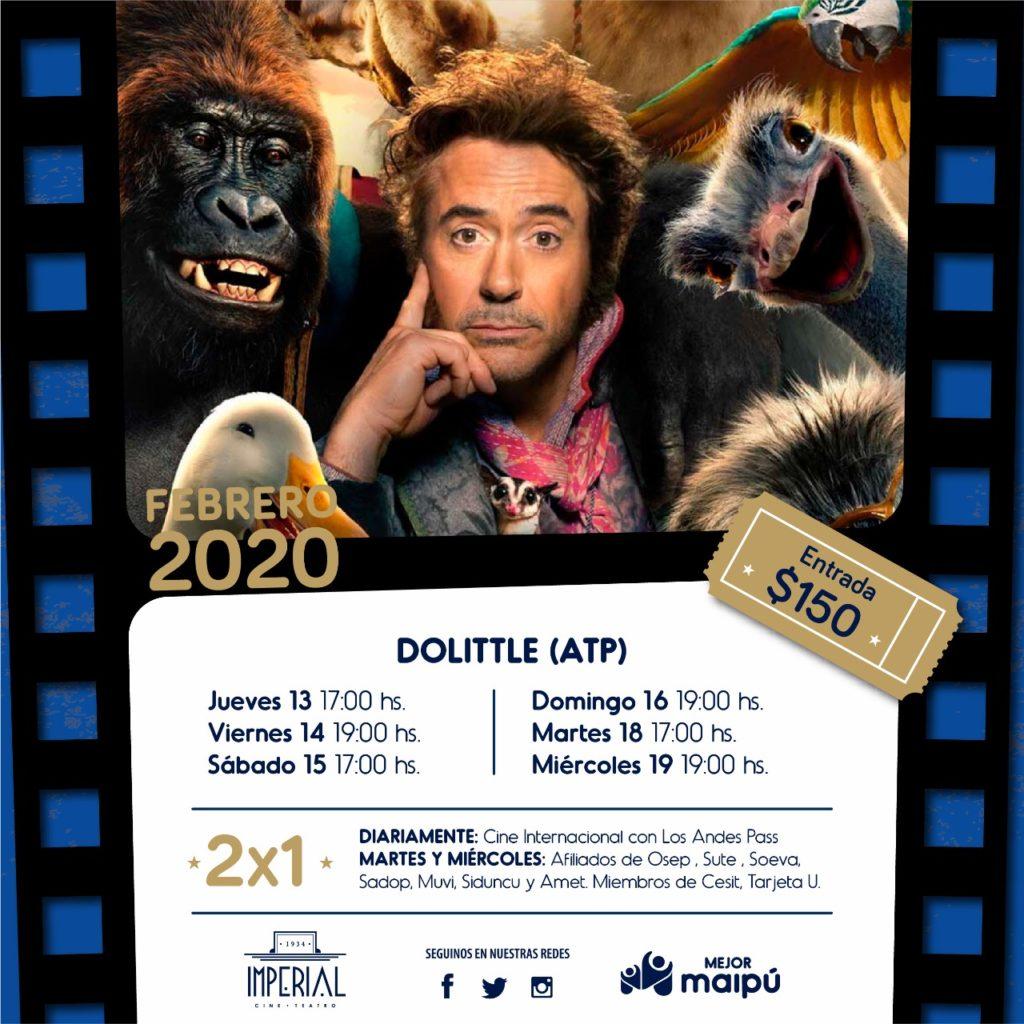 Maipú Municipio te invita a disfrutar de la cartelera del Cine Teatro Imperial