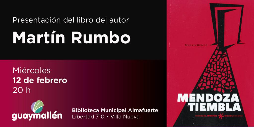 Martín Rumbo presenta «Mendoza tiembla» en la biblioteca Almafuerte