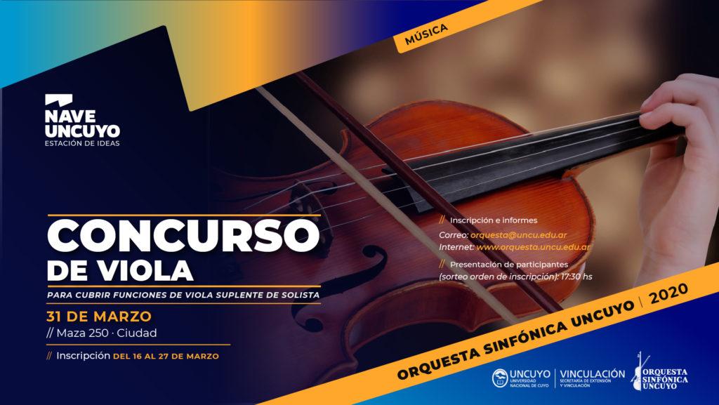 Concurso para función de viola en la Orquesta Sinfónica
