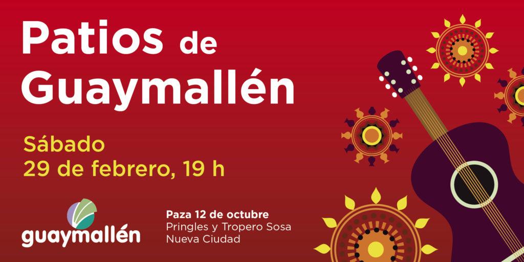 "Regresa la propuesta cultural  ""Patios de Guaymallén"""