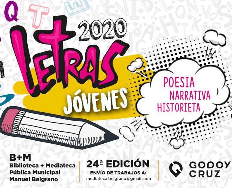 Cultura de Godoy Cruz te invita al certamen online «Letras Jóvenes» 2020