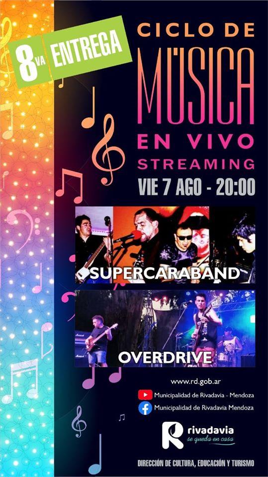 Supercaraband y Overdrive en el Ciclo de Música en vivo