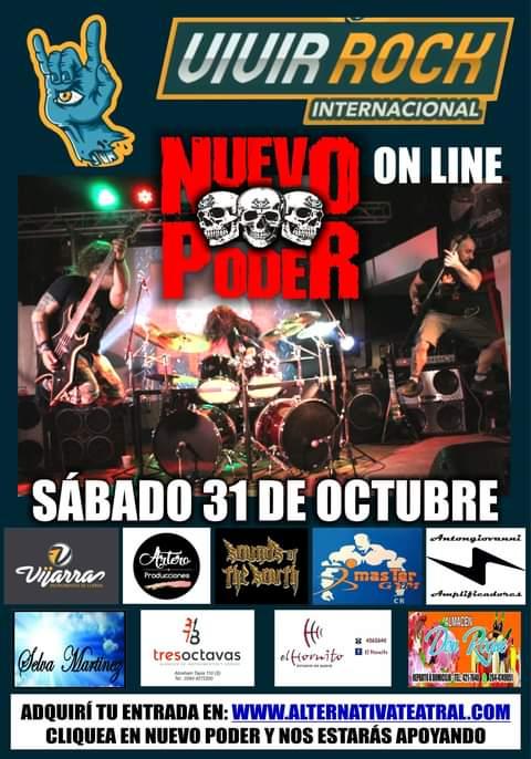 Nuevo Poder participará en el festival «Vivir Rock» Internacional Online