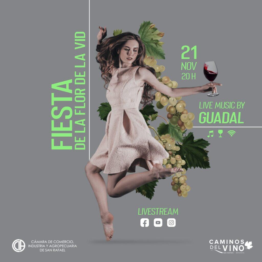 La Fiesta Provincial de la Flor de la Vid inaugura el streaming vendimial