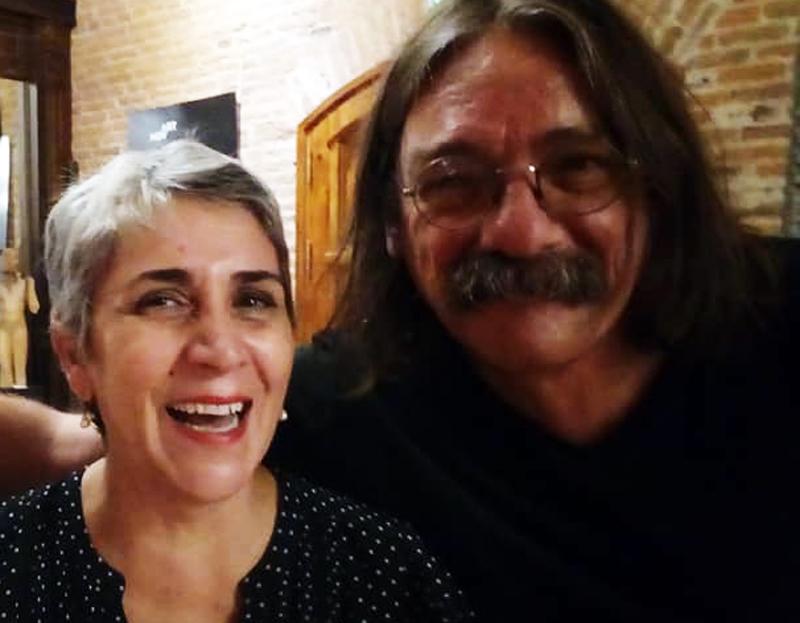 Patricia Cangemi junto a Gustavo Bruno en el ciclo «DEScorcheaDOS»