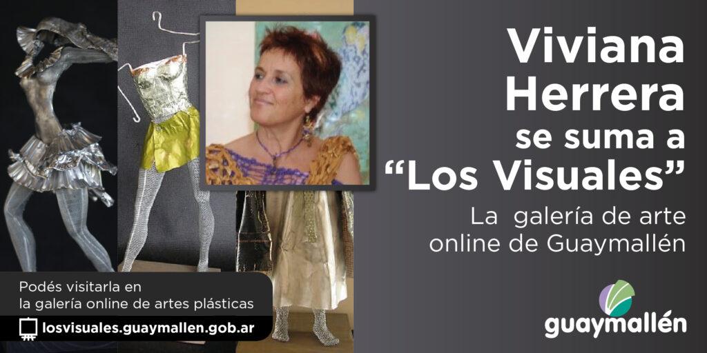 """Viviana Herrera luce sus piezas de arte en """"Los Visuales"""""""