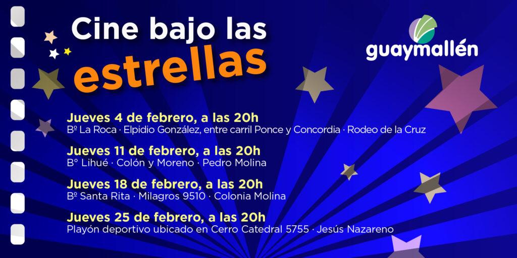 """Vuelve el ciclo """"Cine bajo las estrellas"""" en Guaymallén"""