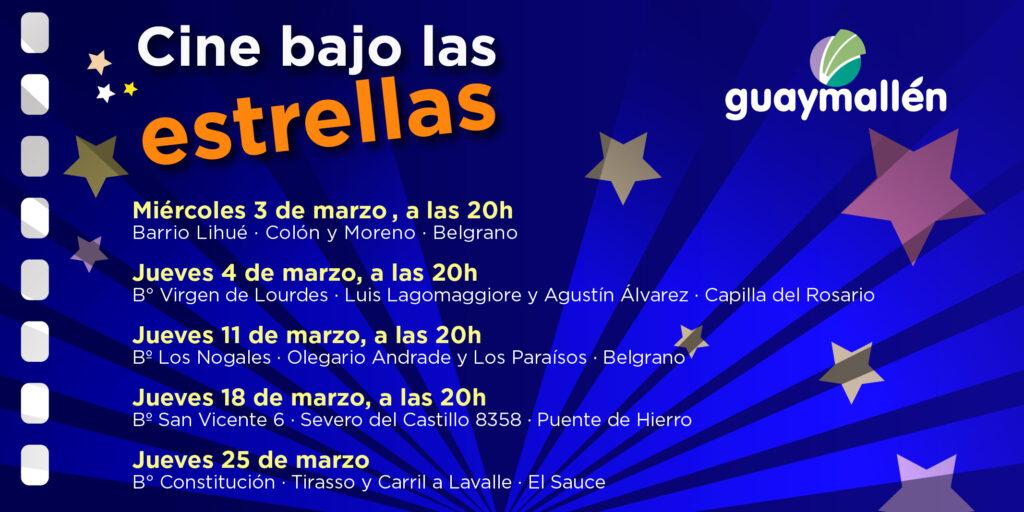 En Guaymallén continúa el ciclo Cine bajo las estrellas