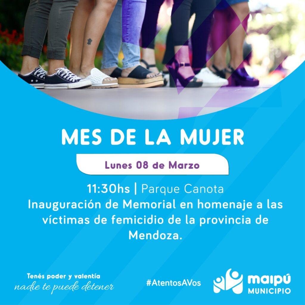 Inauguración de Memorial en homenaje a las víctimas de femicidio de la provincia de Mendoza