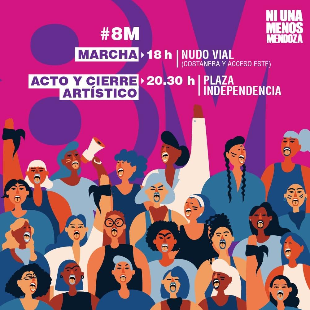 8M Paro y Movilización, Ni Una Menos Mendoza
