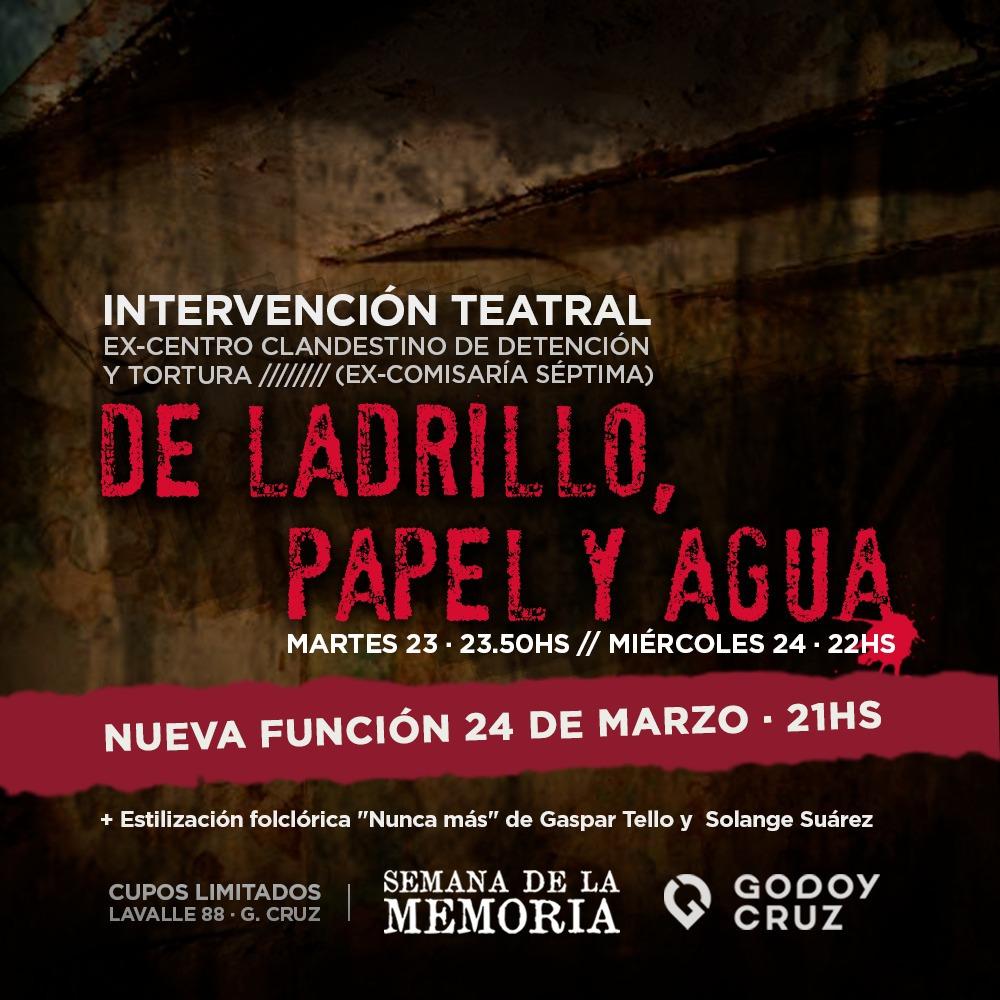 """Godoy Cruz culmina su """"Semana de la Memoria"""" con múltiples actividades"""