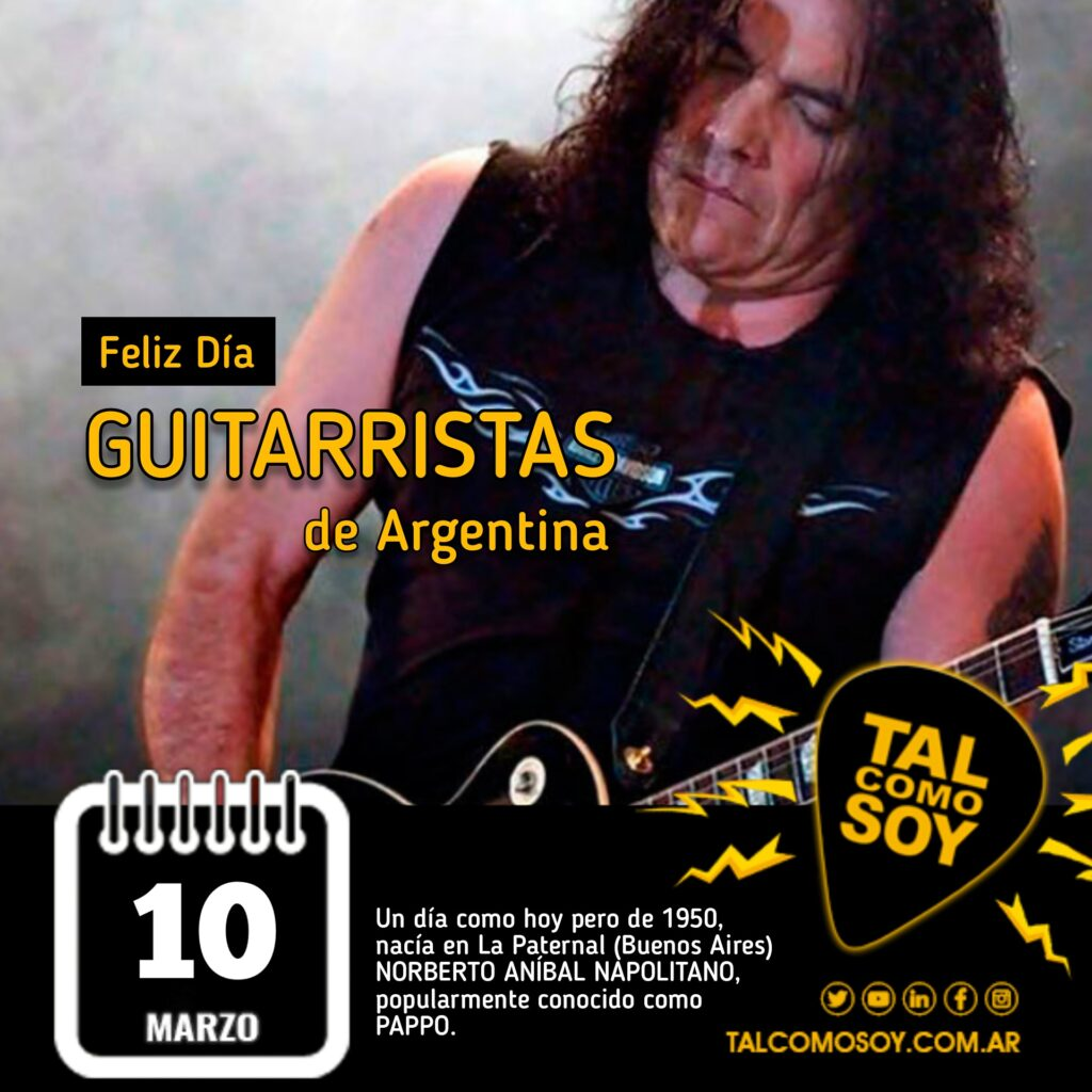 10 de marzo: Día del/la Guitarrista Argentinx