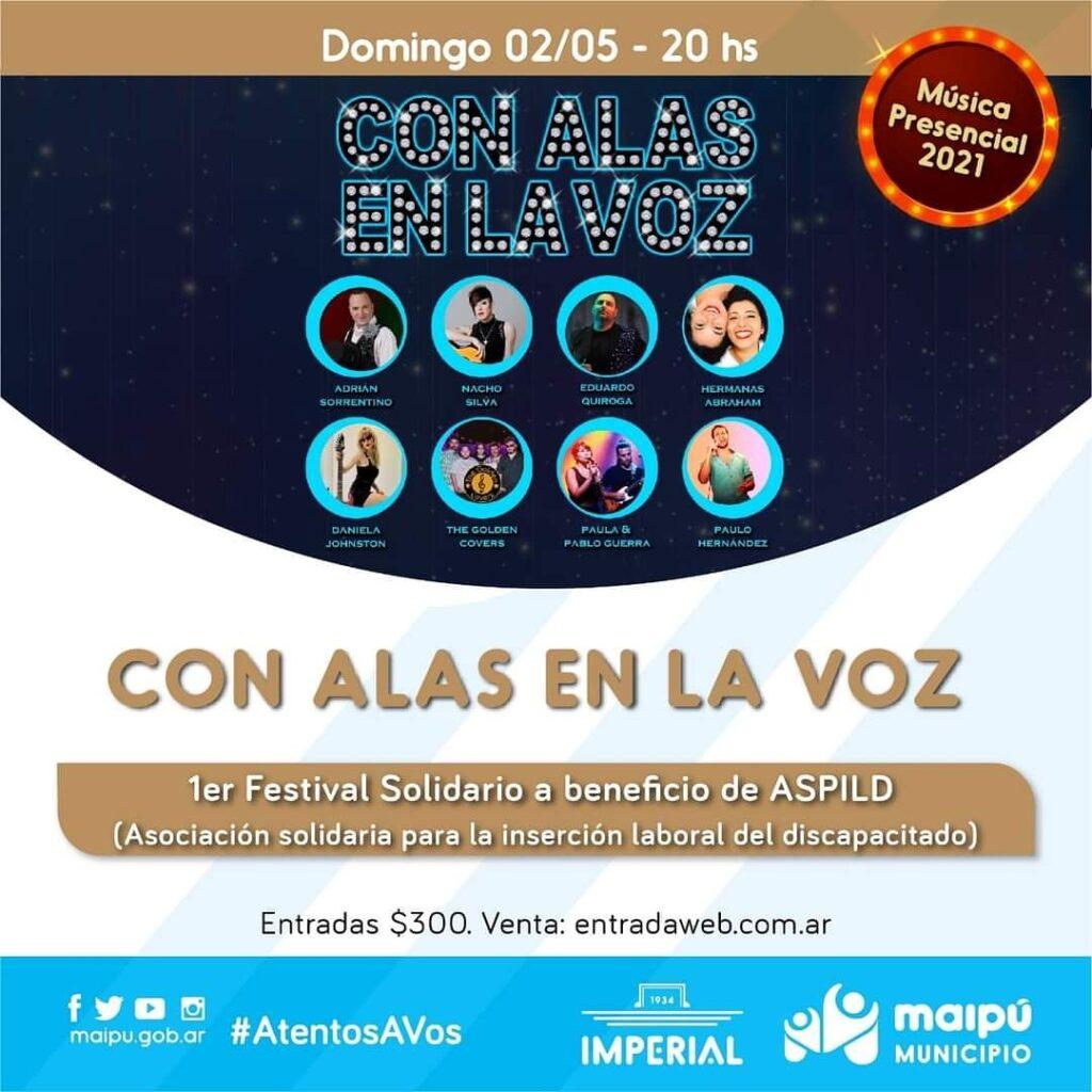 «Con Alas en la Voz» Show a beneficio de ASPILD