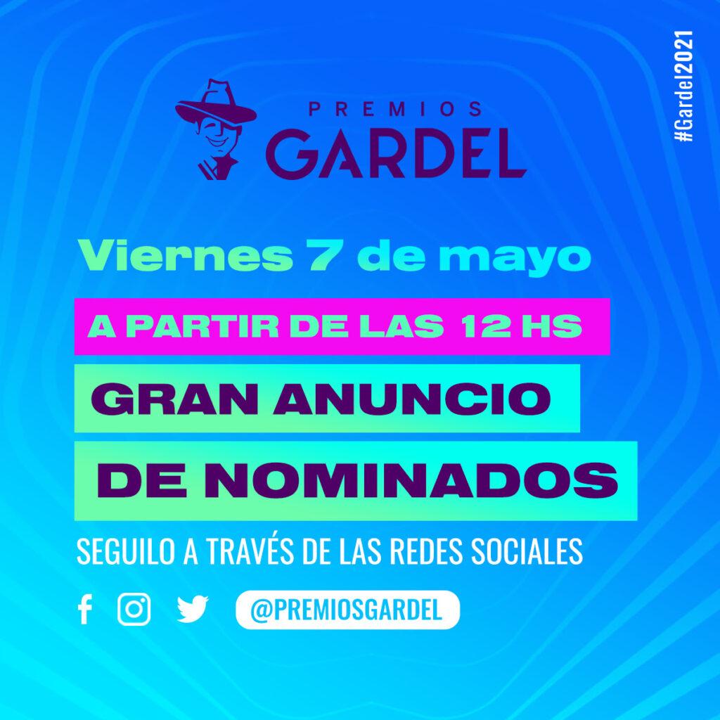 Premios Gardel: el anuncio de nominadxs será el próximo viernes